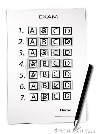Free Test Exam Sheet Royalty Free Stock Photography - 2853097