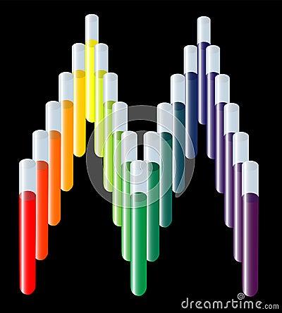Test tube medical logo