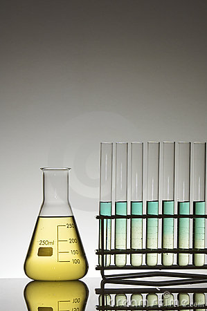 Test tubes and flask