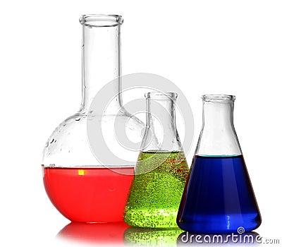 Test-tubes isolated. Laboratory glassware