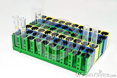 Test tubes on rack