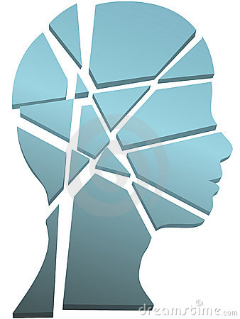 Testa della persona di concetto di salute mentale nelle parti