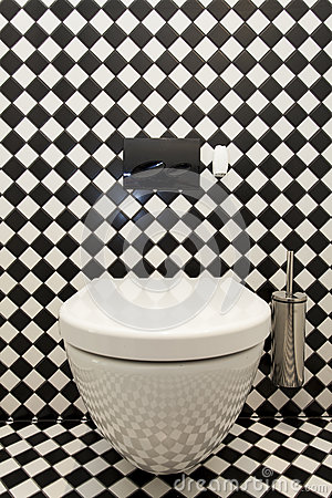Teste padrão Checkered no toalete