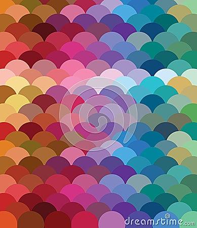 Teste padrão colorido