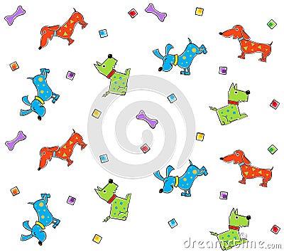 Teste padrão colorido dos cães
