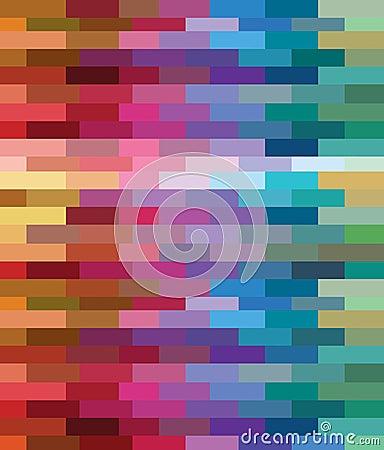 Teste padrão da cor dos tijolos pelo projeto do pixcel