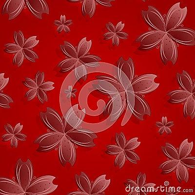 Teste padrão de flores vermelho