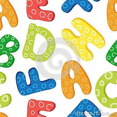 Teste padrão do alfabeto