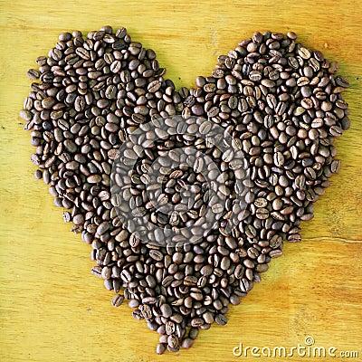 Teste padrão do feijão de café