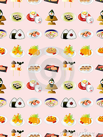 Teste padrão japonês sem emenda do alimento