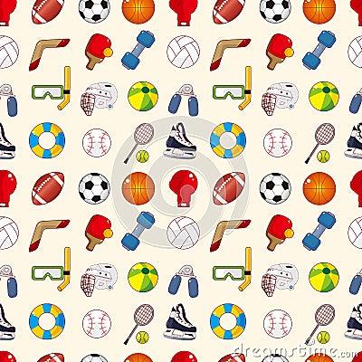 Teste padrão sem emenda do elemento do esporte