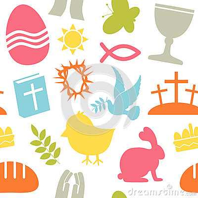 Teste padrão sem emenda dos ícones de Easter