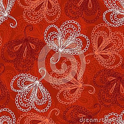 Teste padrão sem emenda floral ornamentado