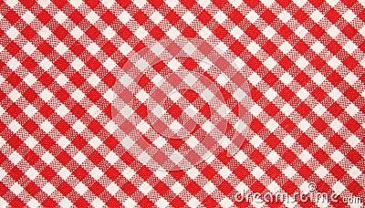 Teste padrão vermelho/branco de pano da grade