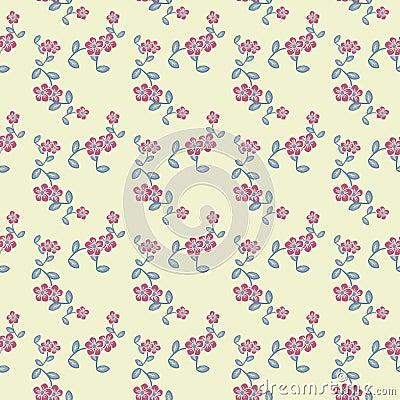 Teste padrão de flores decorativo