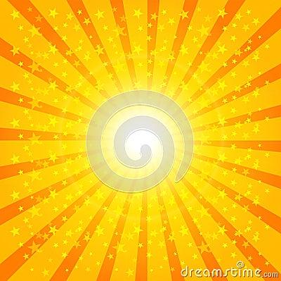 Teste padrão do Sunburst de Sun Ilustração do vetor