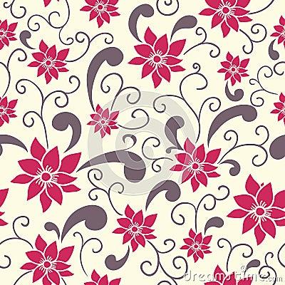 Teste padrão floral do verão