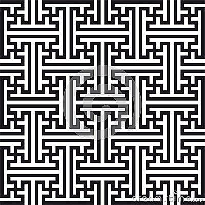 Teste padrão geométrico chinês