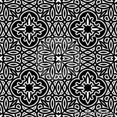 Teste padrão preto e branco