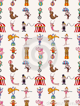 Teste padrão sem emenda do circo