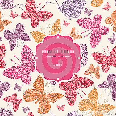 Teste padrão sem emenda do quadro floral das borboletas