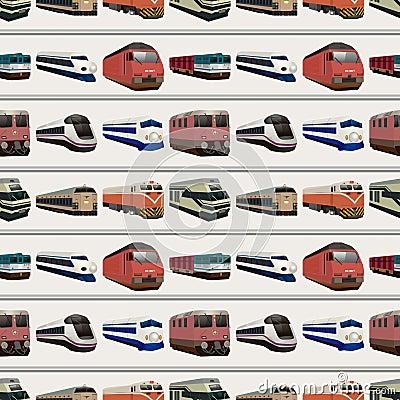 Teste padrão sem emenda do trem