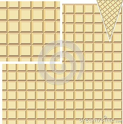 Teste padrão sem emenda do waffle