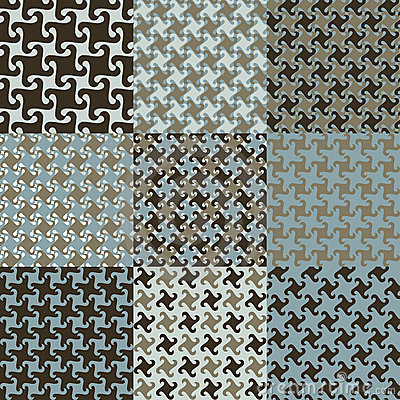 Testes padrões de Swirly no azul e no Brown