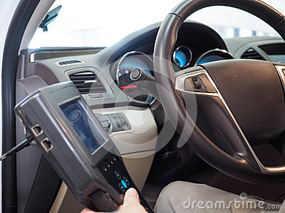 Testing automobile