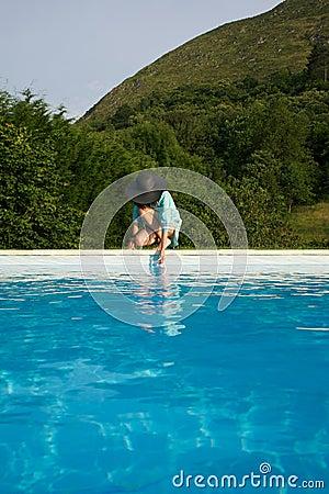 Free Testing Water On Swimming Pool Border Stock Image - 21001541
