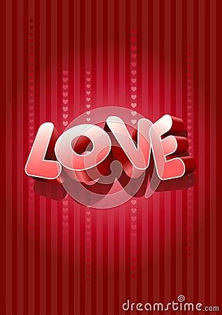 Testo di amore 3D