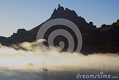 Tetacawi (Tit della capra) in nebbia