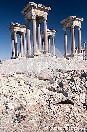 Free Tetrapylon At Palmyra Syria Stock Images - 3318514
