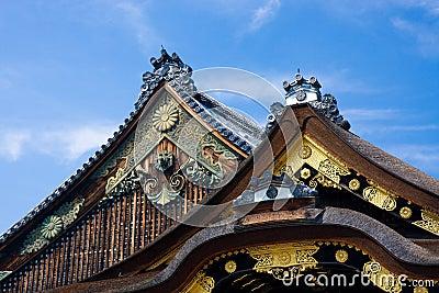tetti giapponesi del tempiale immagini stock immagine