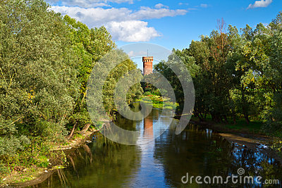 Teutonic castle in Swiecie at the river