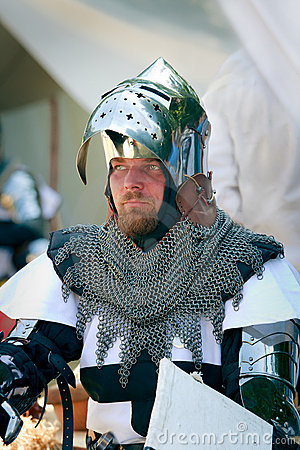 Teutonic Knight Portrait Editorial Stock Image