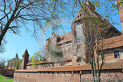 Teutonic Knights  fortress in Malbork, Poland