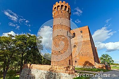 Teutonic Schloss in Swiecie, Polen