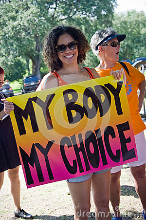 Texan Pro-Choice Protestor Editorial Photo