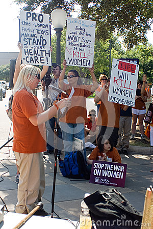 Texan Pro-Choice Protestors Editorial Image