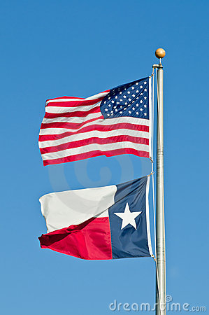 Texas And American Flags Stock Images Image 17891614