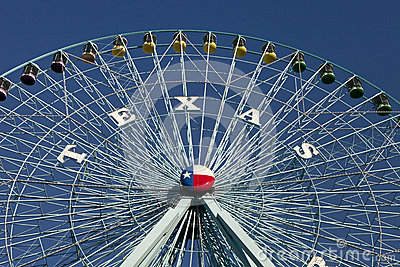 Texas Ferris Wheel Editorial Photo