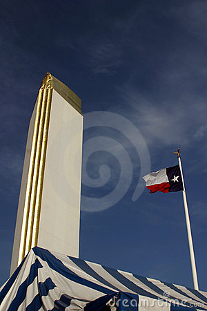 Texas Flag at the Big Top