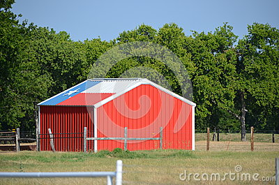 Texas flag shed