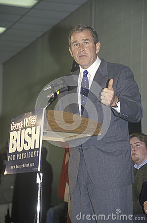 Texas Governor George W. Bush Editorial Stock Image