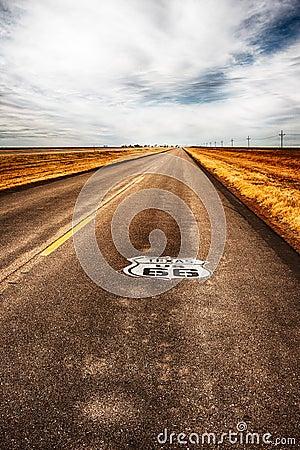 Free Texas Highway Route 66 Stock Photos - 87975133