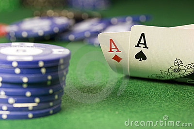 Texas Hold em Poker Ace Pair