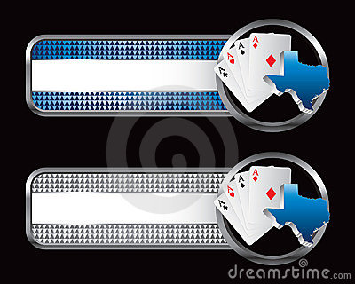 Texas hold em on specialized banners