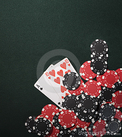 Texas holdem poker cards and Casino chips