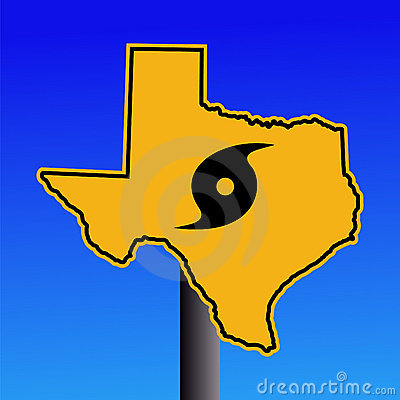 Free Texas Hurricane Warning Sign Stock Photography - 6380082